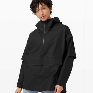Lululemon Black Into the Drizzle 1/2 Zip Jacket